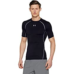 Under Armour Armour Hg Ss T, Camiseta de manga corta Para Hombre, Negro, L