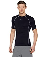 Idea Regalo - Under Armour UA HG ARMOUR SS, Maglia termica a maniche corte a compressione, Uomo, Nero, M