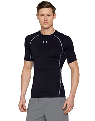 Under Armour Herren Heatgear Fitness Funktionsshirt, Schwarz/Grau, XL