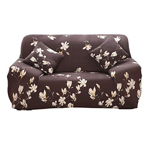 Hotniu copridivano elasticizzato, fodera per divano con stampa di fiori elastico, sofa mobili protettore copertura (3 posti, pattern #thyx)