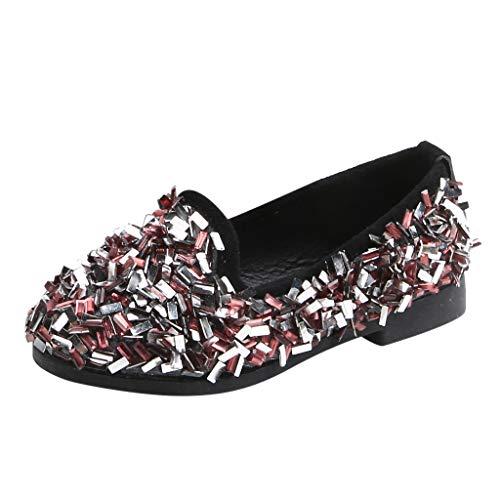 inzelne Schuhe Freizeitschuhe Party Prinzessin Prinzessin Bling Hochzeit Baby Bogen Kristall Loafers Beiläufige Elegant Flache Schuhe Kinder Schuhe Faule Schuhe ()