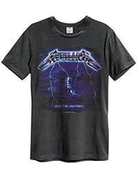 Verstärkt Offiziell Herren Metallica Ride The Lightning 1984 T Shirt Holzkohle