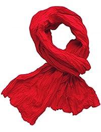 *** PROMOTION *** Chèche Foulard Écharpe - Rouge - 100% coton (Dimension: 180 x 110 cm)