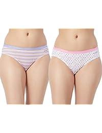 Fruit of the Loom Women's Plain Cotton Bikini (Pack of 2)