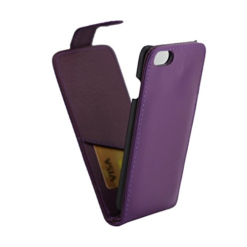 iPhone Case Cover Pour iPhone 7 Plus ordinaire Texture Vert Flip étui en cuir avec fente pour carte ( Color : Pink ) Purple