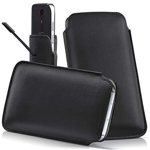 moex UMI EMAX | Hülle Schwarz Sleeve Slide Cover Ultra-Slim Schutzhülle Dünn Handyhülle für UMI EMAX Case Full Body Handytasche Kunst-Leder Tasche