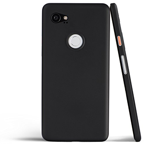 totallee Pixel 2 XL Case, Thinnest Cover Premium Ultra Thin Light Slim Minimal Anti-Scratch Protective - for Google Pixel 2XL (Midnight Black)