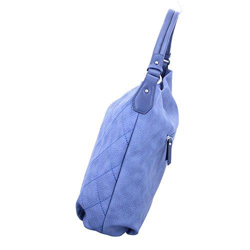 Gabor Damen Tatjana Schultertasche, 13 x 32.5 x 42 cm Blau (Blau)
