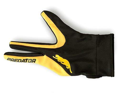 Predator Pool Queue Handschuh in gelb/schwarz Farbe Professional Billiards Zubehör für links/Rechtshänder Spieler Größe S/M L/XL, Yellow/Black - L/XL