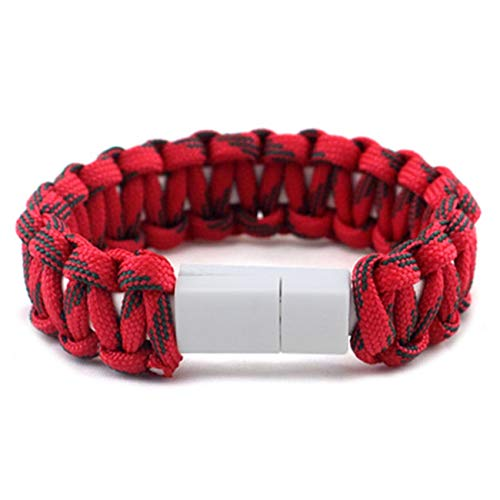 mbrella Rope Bracelet for Samsung Xiaomi Android USB Data Cable Charger Multifunction Bracelets Bangles 1 ()