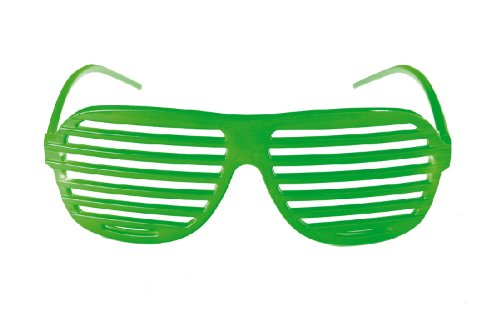 Karneval Zubehör Brille Jalousie grün für versch Kostüme an Fasching (1 36 Jalousien)