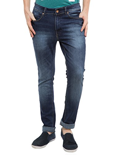 Locomotive Solid Dark Blue Jeans