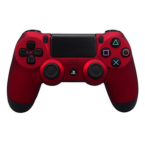 eXtremeRate Hülle Gehäuse Obere Case Schutzhülle Cover Oberschale Skin Soft Touch Shell für Playstation 4 PS4 Controller JDM-011,JDM-001,JDM-020(Rot) Controller Shell