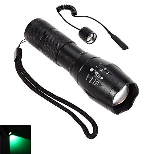 Linterna LED rojo rayo Cree zoom enfoque ajustable