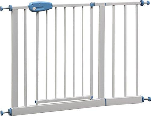 """IB-Style - Barrière de sécurité """"Megane"""" blanc 74 cm - Prolongeable avec rallonge(s) à 143 cm   12 variantes   à pression - sans percage   Réglable de 102 - 115 cm"""