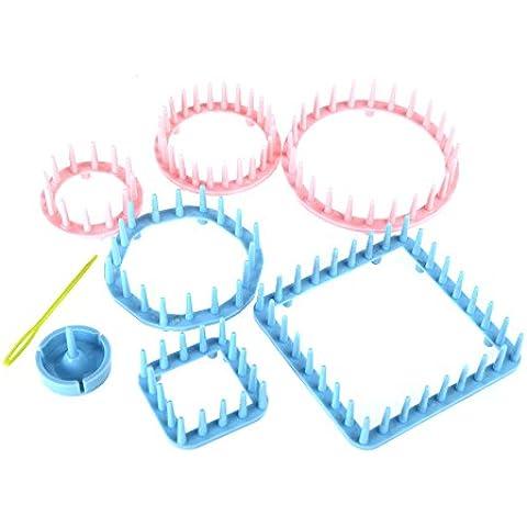 leryjoy (TM) Home DIY Handcraft filato Loom Kit Nuovi Beni accessori per cucito fiori Loom (6 Ricamo)