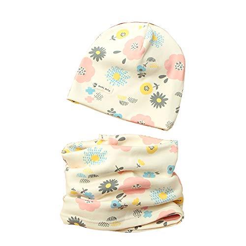 1 set cappello e sciarpa del cotone per ragazzi e ragazze, tukistore autunno e inverno carino neonato bambino spessa e calda outdoor sciarpa del cappello con sciarpa set sciarpa e berretto