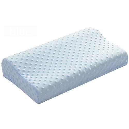 NBSP Raumgedächtnis Baumwolle Kissen Tiefen Schlaf Nackenmassage Kissen Orthopädie Körnchen Massage Design Ergonomisch Kontur Kissen Mit 50 * 30 * 10 * 7,Blue - Kontur-massage-kissen