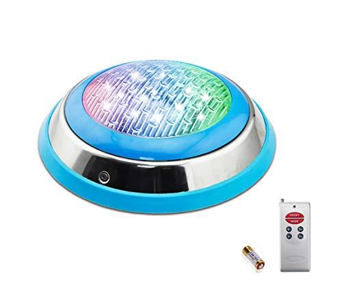 COOLWEST RGB Schwimmbadleuchten 54W LED Poolbeleuchtung Einhänge Unterwasser ersatz 250W Halogen Scheinwerfer DC/AC 12V