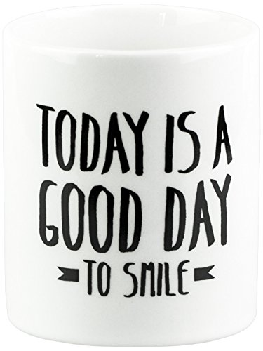 Mr. Wonderful - Taza con mensaje Today is a good day to smile