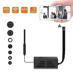 telefono camara espia: Cámara Oculta espía WiFi, cámara inalámbrica de Seguridad 1080P Video con detecc...