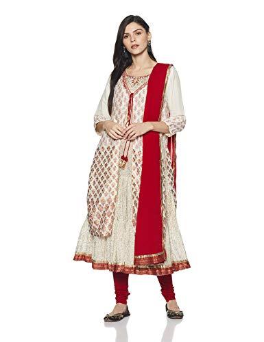 1139db3bf Biba Womens Angrakha Salwar Suit Set Skd5557 Off White 38