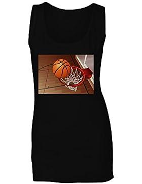 Novedad de la bola del baloncesto camiseta sin mangas mujer a850ft