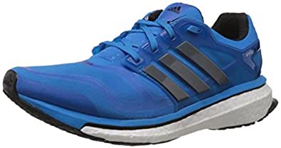 adidas Men's Energy Boost 2 M Dark Onix, Carbon Metallic and Solar Blue Mesh Running Shoes - 6 UK