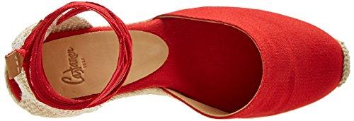 Castañer Damen Carina8001 Espadrilles rot (Red Rubi 502)