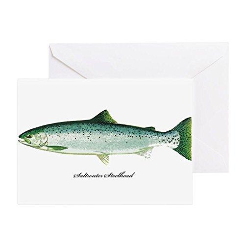 CafePress-Wild Sole Steelhead Fisch-Grußkarte, Note Karte, Geburtstagskarte, innen blanko, glänzend -