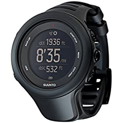 Suunto Men's Ambit3 50mm Black Silicone Band Steel Case Quartz Digital Watch SS020681000
