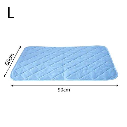 Hunde-kühle Matte, einfarbige Viskose-Faser-Haustier-abkühlende Auflagen-Matten-Hunde-selbstkühlende Gel-Matte für Hundekisten, Zwinger und Bett