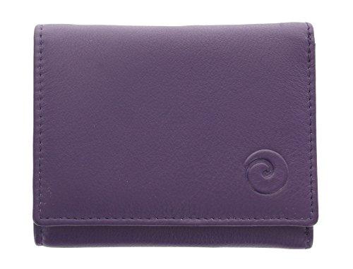 Portafoglio compatto Mala Leather. Collezione ORIGIN con protezione RFID 3273_5 Porpora Porpora