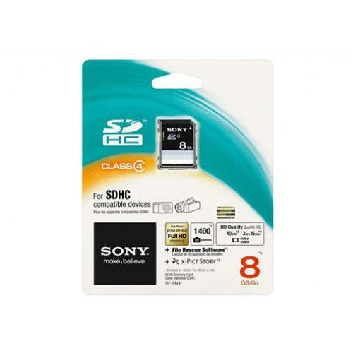 Sony 8GB SDHC Class 4 Memory Card
