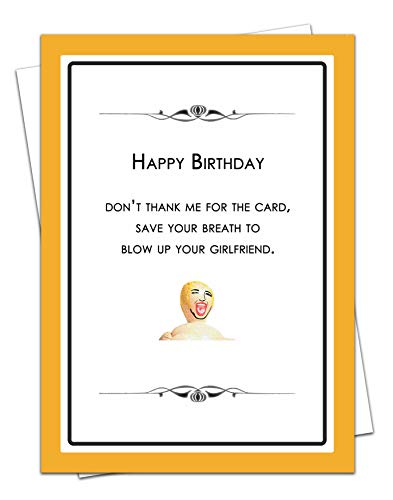 Blow Up Your Girlfriend - stumpfe Instrumente - Geburtstagskarte für Ehefrau, Ehemann, Partner, Freund, Freundin, Rude Vintage Freundin für Sie