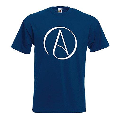 KIWISTAR - Atheismus - Atheist T-Shirt in 15 verschiedenen Farben - Herren Funshirt bedruckt Design Sprüche Spruch Motive Oberteil Baumwolle Print Größe S M L XL XXL Navy