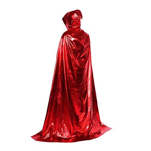 Zhuhaitf Karneval Halloween Kostüm Damen Herren Cosplay Lange Umhang Cloak with mit Kapuze Fancy Dress für Role Play