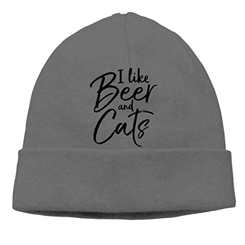 I Like Beer Cats Warm Stretchy Solid Daily Skull Cap Knit Wool Beanie Hat Outdoor Winter Fashion Warm Beanie Hat