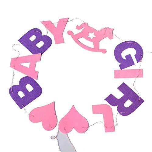 FeiyUan Elegante Bunte Buchstabenbanner aus Stoff Wimpelkette Girlande Flaggen für Hochzeit Geburtstag Party Festival Dekoration für Zuhause Dekoration 02 (Nautische Geburtstag Party Supplies)