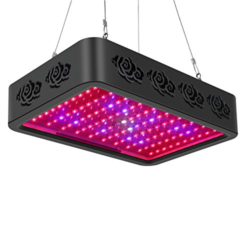 Toplanet Pflanzenlampe 300W LED Grow Lights Full Spectrum 9 Lichtband für Gewächshaus/Indoor /Grow Box Veg