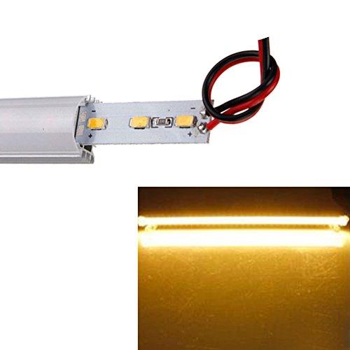 HMOCNV Unterschrank Beleuchtung Wiederaufladbare Dimmbar Warm Weiß Licht 9W 5630 SMD 800 Lumen LED für Zähler Küche Regal Spind Show und Closet Beleuchtung - Warmes Weiß, Free Size - Küche Zähler Beleuchtung