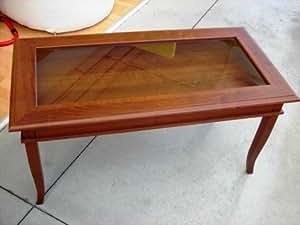 Tavolo bacheca legno base vetro come foto arte povera for Tavolini arte povera