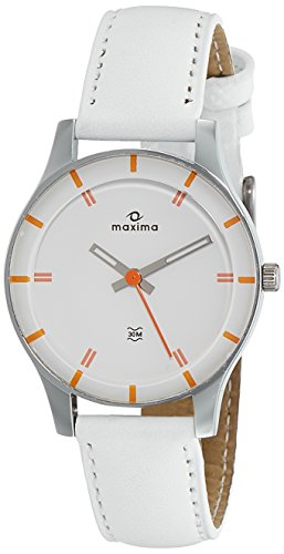Maxima Analog White Dial Women's Watch-41271LMLI image