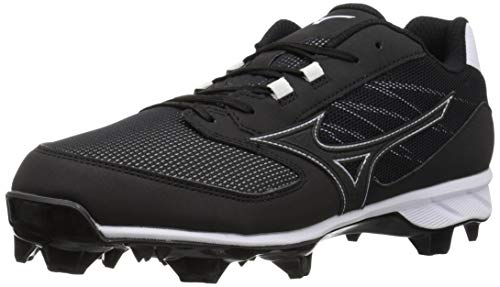 Mizuno Damen Molded Cleat 9 Spike Advanced Dominant TPU-geformte Baseball-Klemme, schwarz/weiß, 36.5 EU