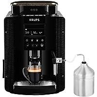 Krups Essential EA81M8 - Cafetera superautomática, accesorio leche, depósito de agua 1.7 l, 3 niveles de temperatura, 3 texturas de molienda, de 1450 W