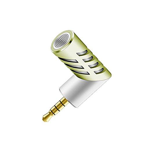 BDFA 90 Grad Rotation Design, Wireless Mini Mic Digital Stereo Mikrofon Für Recorder Aufnahme Stift PC Laptop und Handy,White