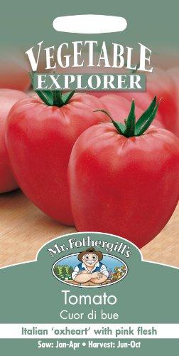 Mr. Fothergill's 15298 Lot de 75 graines de tomates allongées coeur de bœuf