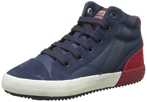 Geox Jungen J Alonisso Boy A Hohe Sneaker, Blau (Navy/Dk Red), 38 EU (Jungen High-top)