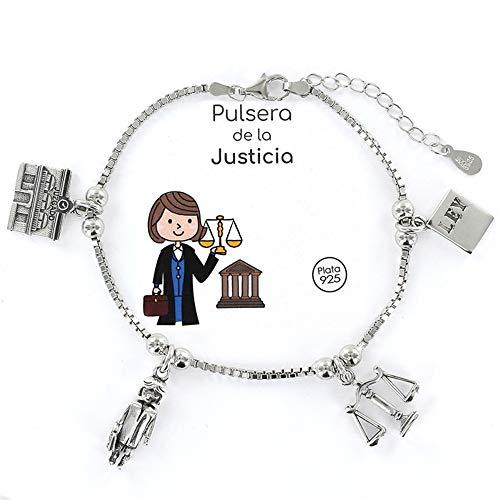 Pulsera Eres lo mas Mujer Justicia Abogada Procuradora Plata
