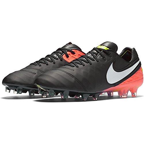 Nike Herren Tiempo Legend VI FG Fußballschuhe, Schwarz (Black/White/Hyper Orange/Volt), 43 EU